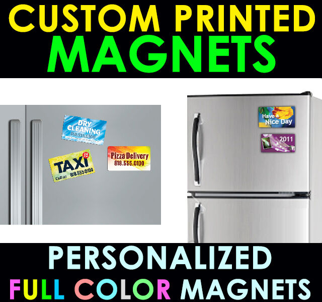 250 personalized magnets custom printed full color business card picture 1 of 1 reheart Choice Image