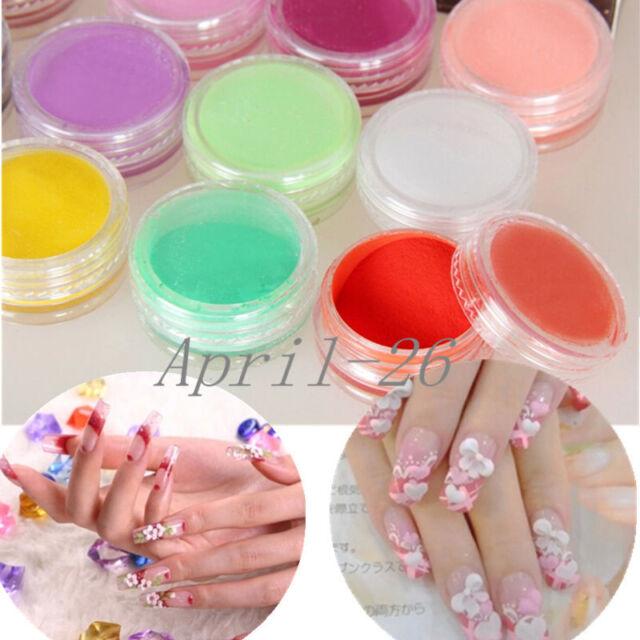 12 Colors Acrylic Powder Dust UV GEL Design 3d Tips Decoration ...