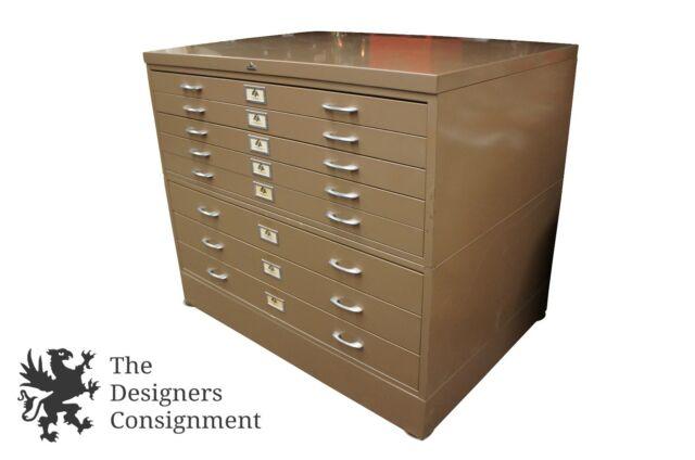 Mayline vlccmah filing cabinet ebay 47 ase all steel equipment industrial blueprint map filing cabinet art storage malvernweather Gallery