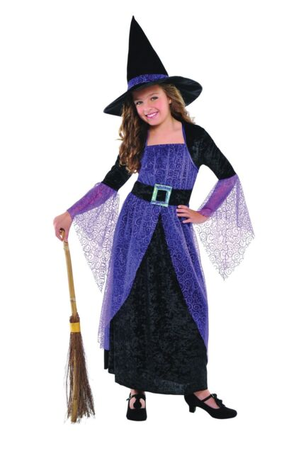 Child Pretty Potion Witch Costume Girls Halloween Witches Fancy ...