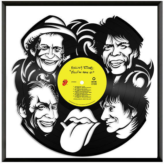 Rolling Stones Vinyl Wall Art Vintage Record Musician Home Bedroom ...
