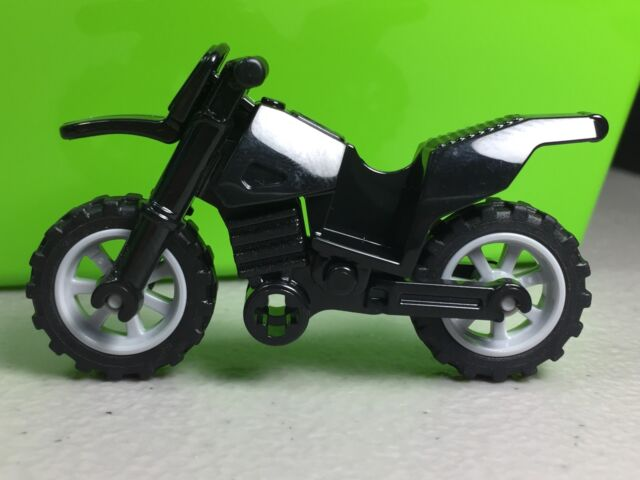 Lego Dirt Bike / Motorcycle Dark Blue With Gray Rims Black Chassis ...