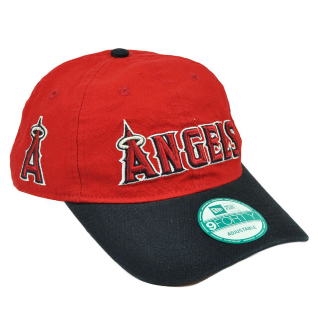 aaa2eeb2141487 ... uk mlb new era 9forty 940 team canvas clip buckle los angeles angels  hat cap red