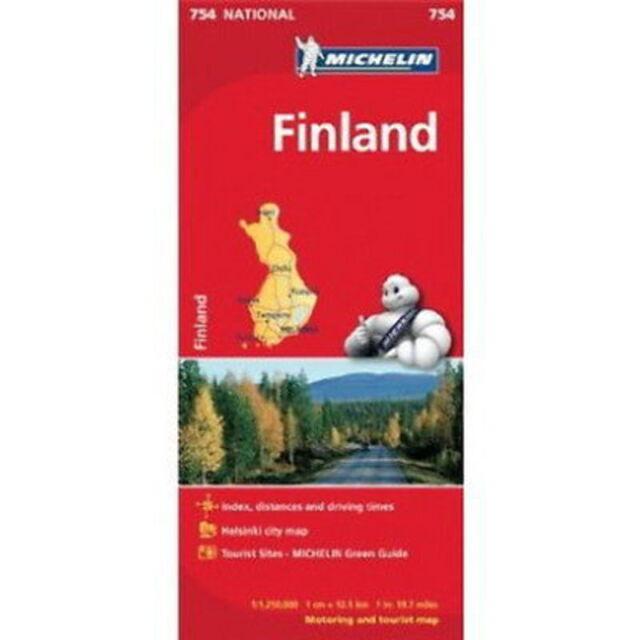 Finland Michelin National Map 754 Motoring Tourist Map