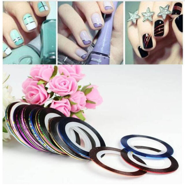 Mixed Colors Rolls Striping Tape Line Diy Nail Art Tips Decoration