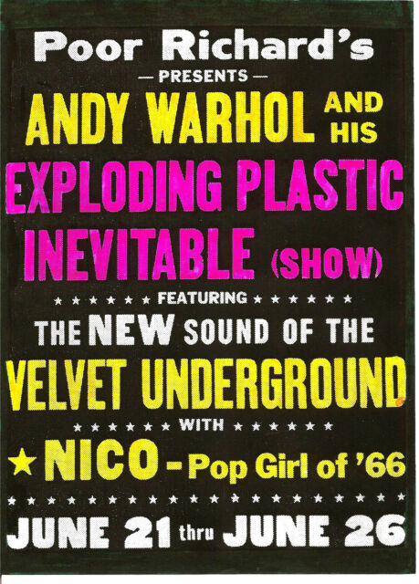 Velvet Underground Poster Lou Reed Nico Andy Warhol   eBay