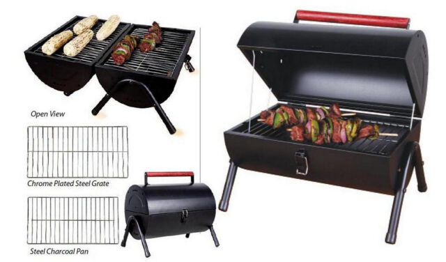 Charcoal BBQ Grill Sunbeam Black Steel Portable Outdoor Party Patio Camping  Top | EBay