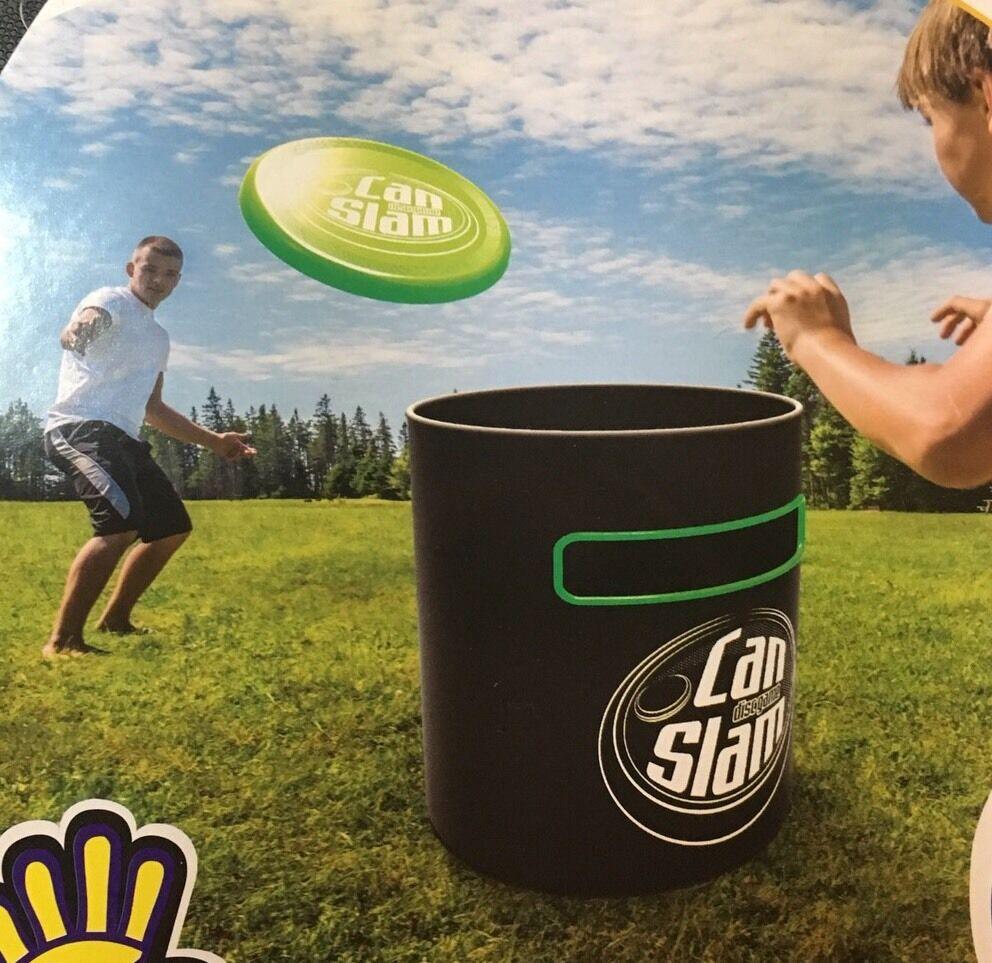 frisbee can slam game outdoor disc flying park beach backyard