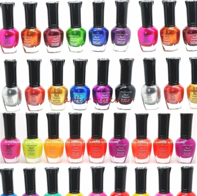 KleanColor Neon Colors 12 Full Colletion Set Nail Polish Lacquer ...