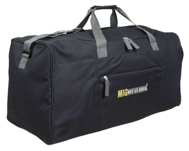 Mens EXTRA LARGE BIG Sports Gym Duffle Holdall Bag TRAVEL WORK MIG BLACK 2016