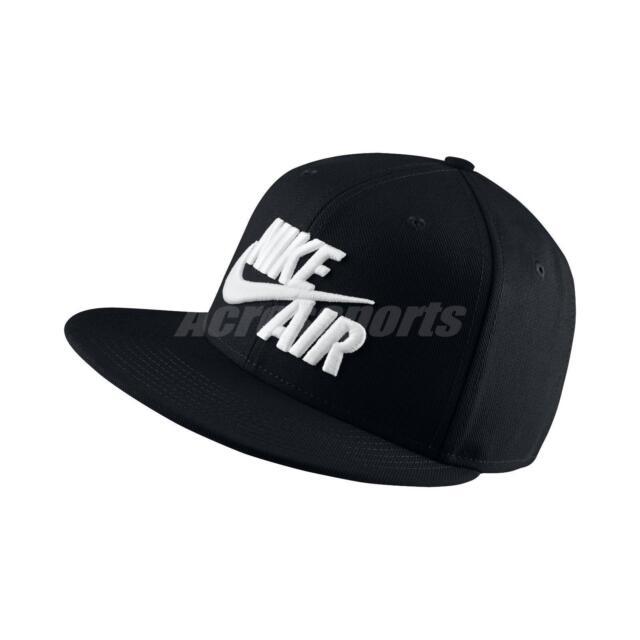 Nike Air True Black White Mens Big Logo Swoosh Snapback Hat Cap 805063-010