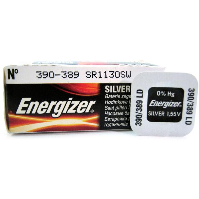 1 x Energizer 390 389 SR54 V390 D390 SR1130SW Watch Battery