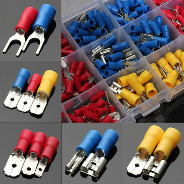300pcs Assorted Insulated Electrical Wire Cable Terminal Crimp ...