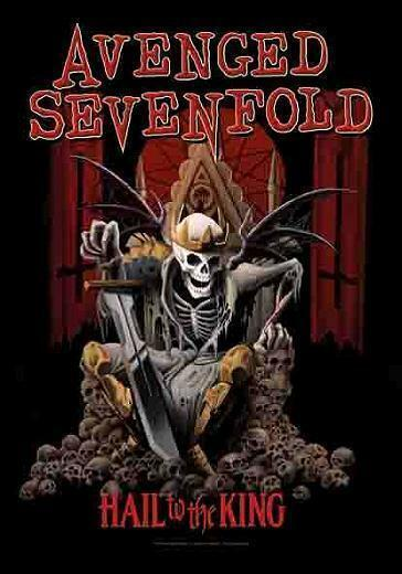 """AVENGED SEVENFOLD AUFKLEBER / STICKER # 14 """"HAIL TO THE KING"""""""
