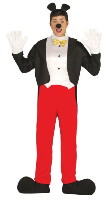 Mens Mickey Mouse Halloween Book Day Fancy Dress Costume Outfit Size Large  sc 1 st  eBay & Mens Mickey Mouse Halloween Book Day Fancy Dress Costume Outfit Size ...