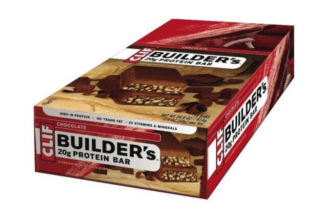 Clif Builders Protein 20g Bars Box of 12 Vegan Vegetarian Dairy and Animal Free