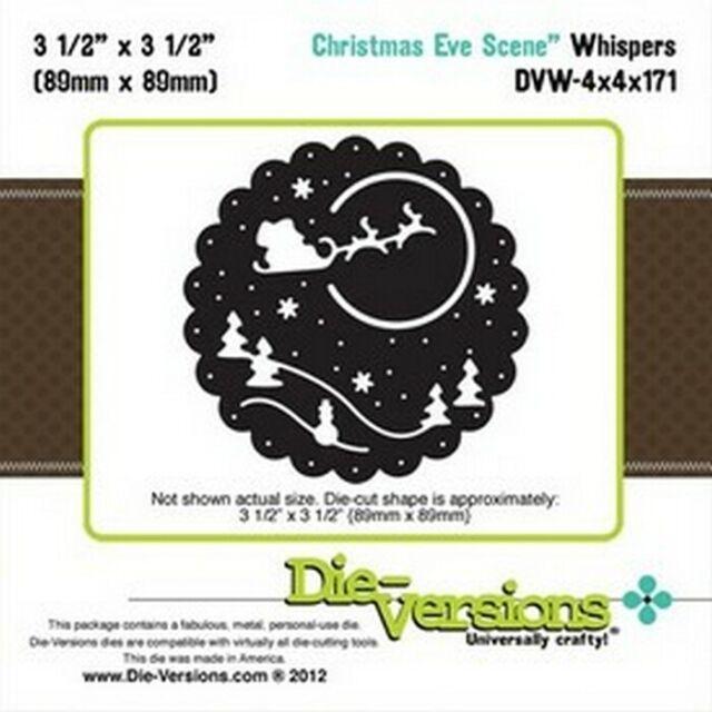 DIE-VERSIONS Universally Crafty CHRISTMAS EVE SCENE die DVW-4x4x171 Santa Reinde