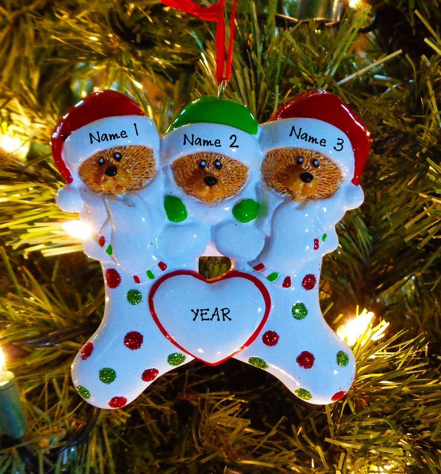 bear stockings family 3 personalize it yourself christmas tree