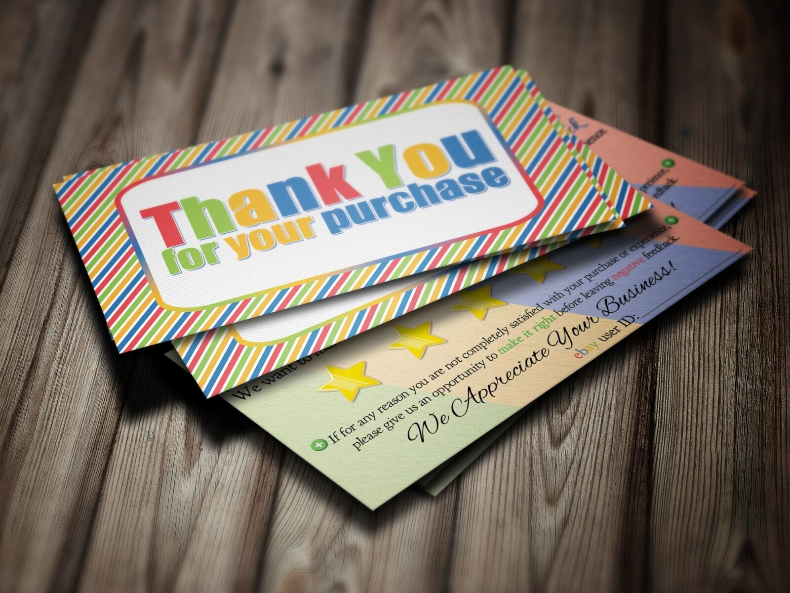 EBAY SELLER Thank You Business Cards 5 Five Star Feedback 100 ...