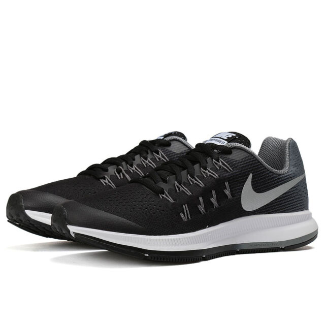 Nike Zoom Pegasus 33 (GS) Black Metallic Silver Cool Grey Wolf Grey 834316  001