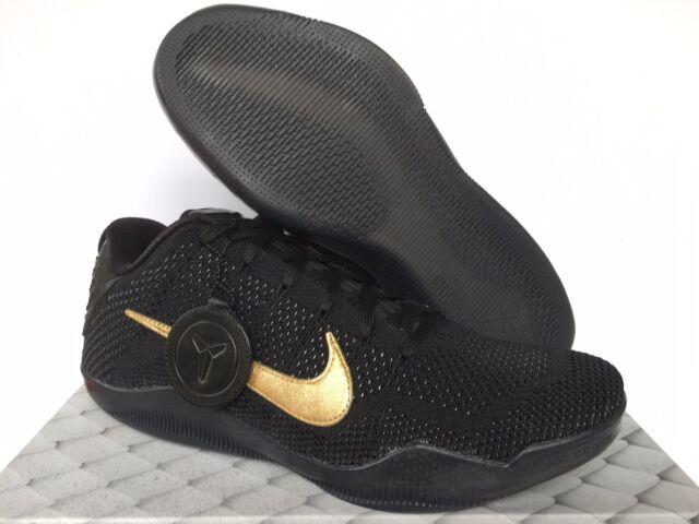 Nike Kobe XI 11 Elite Low FTB Fade To Black Mamba Black Gold SZ 11 (