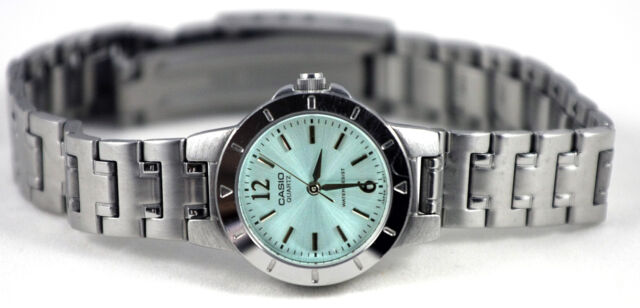 Casio Ladies Aqua Analog Stainless Steel Watch LTP-1177A-3A New Free Shipping