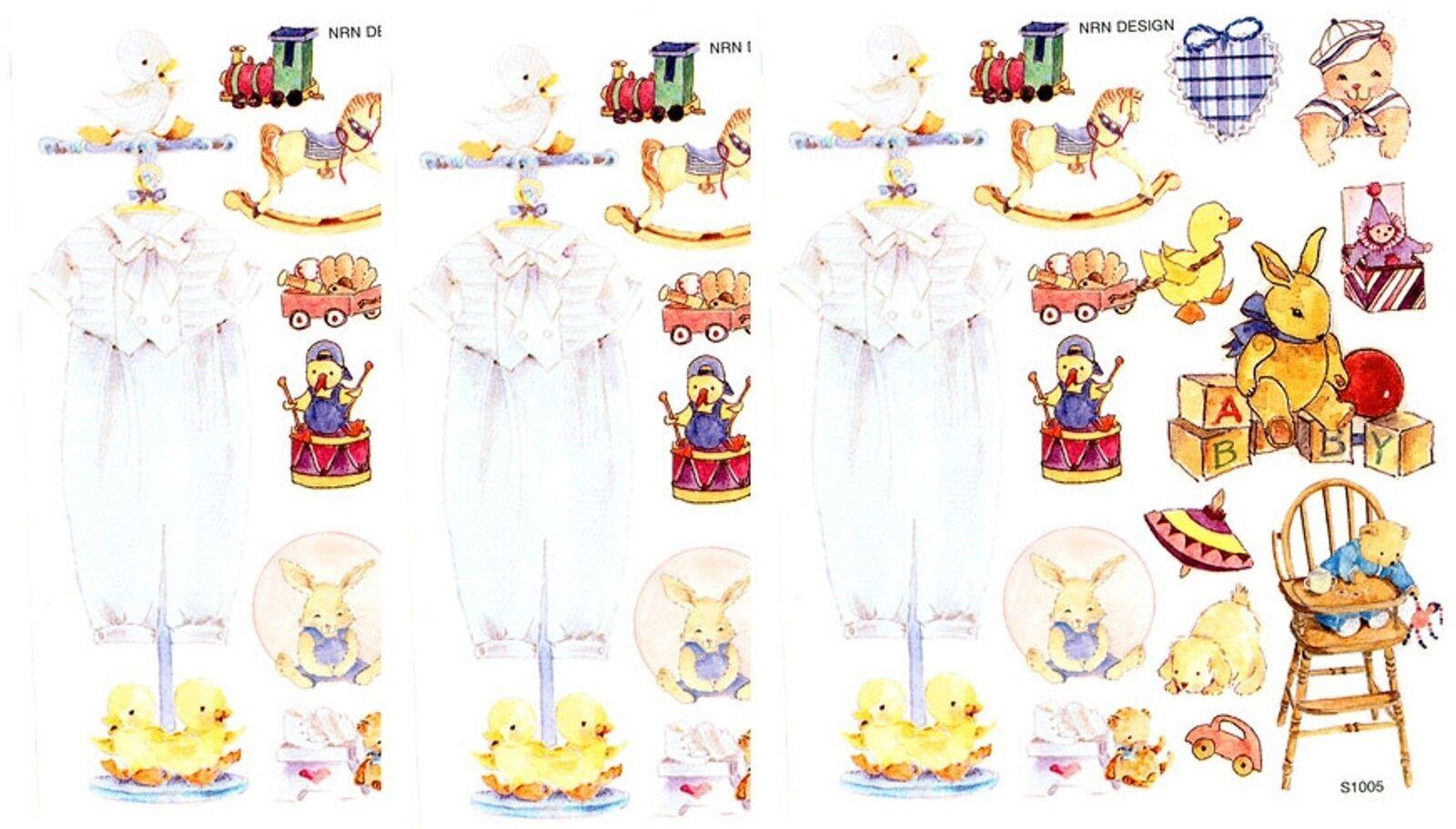 Nrn Designs Baby Boy Classic Scrapbook Stickers 3 Sheets Ebay