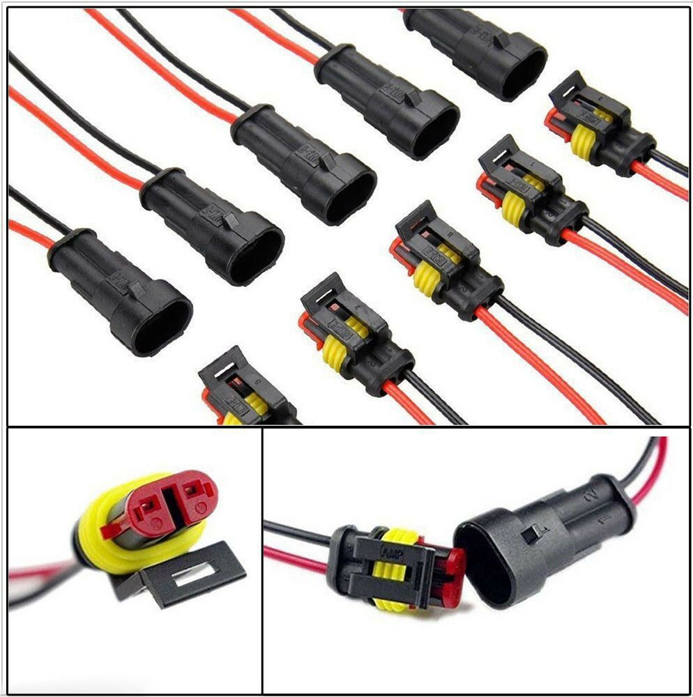 Boat Wiring Supplies And Accessories Circuit Diagram Hub How To Wire 2 Pin Way Car Suv Waterproof Electrical Connector Plug Rh Ebay Com 12 Volt Instrument Panel Diagrams