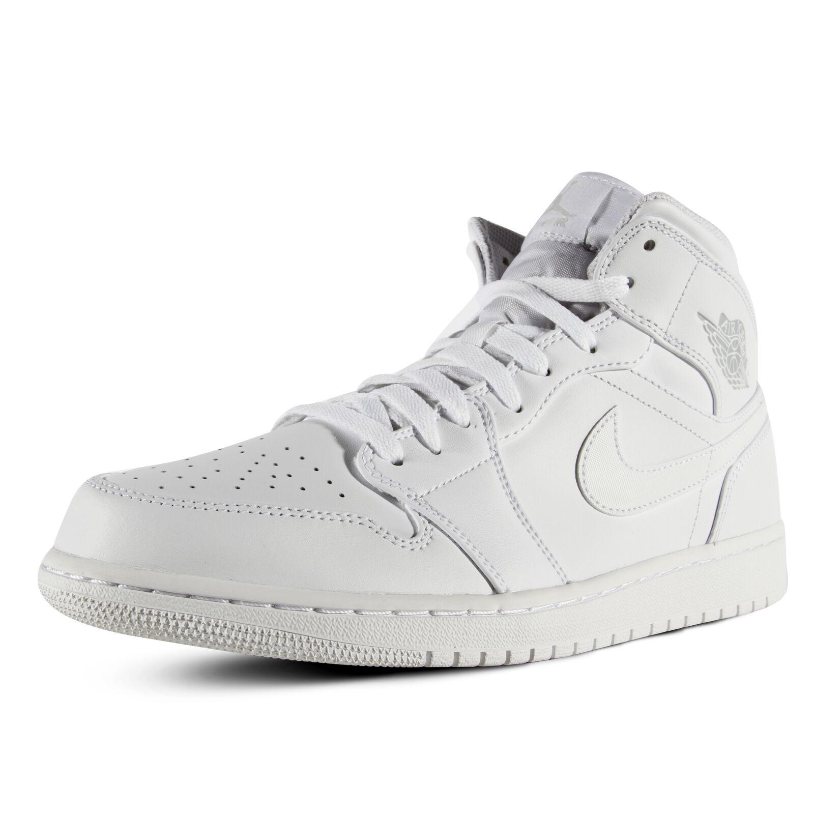 a7595d95f82 ... coupon for nike air jordan 1 mid aj1 white pure platinum men shoes  sneakers bef58 d29dd