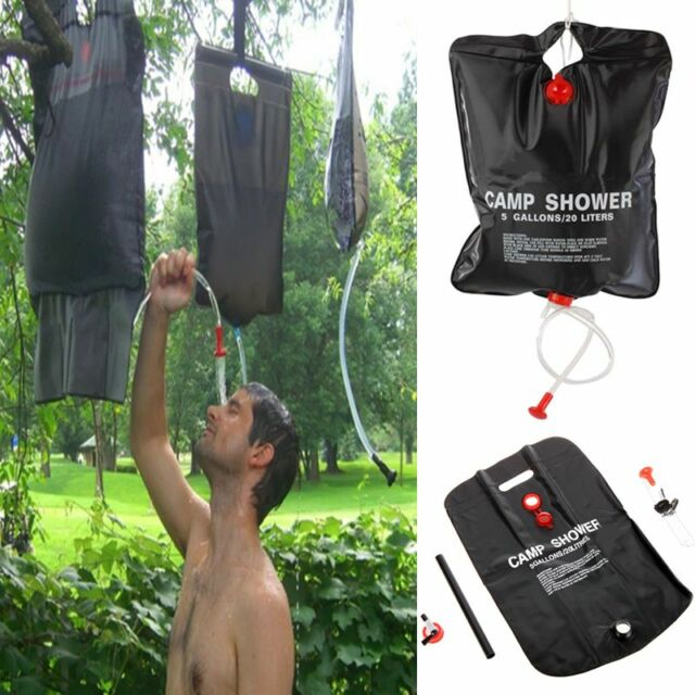 20l Solar Heated Portable Camping Shower Bag Outdoor Hiking Camp Pvc Water