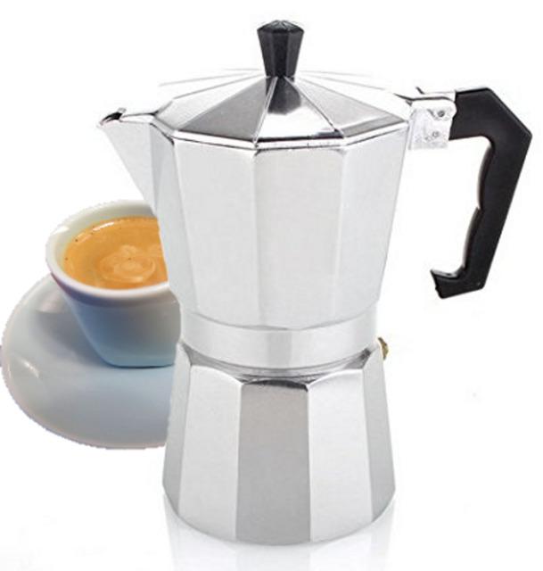 Stove Top Espresso Cuban Coffee Maker Cuccino Latte 3 Cup Cafetera Cubana