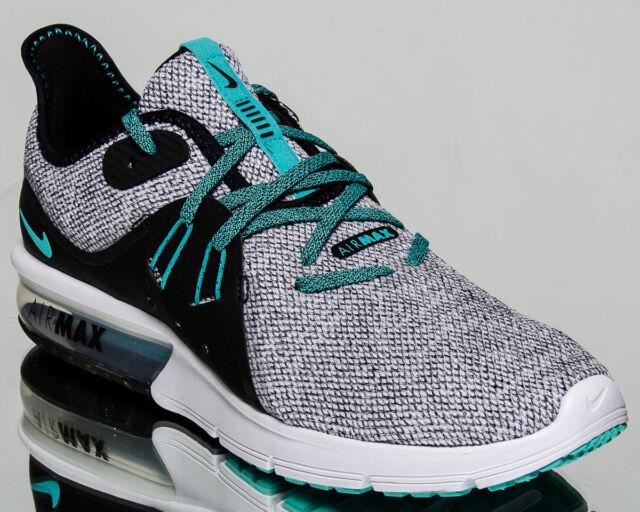 Nike Air Max Sequent 3 Men White Hyper Jade Black Running Sneakers 921694-100
