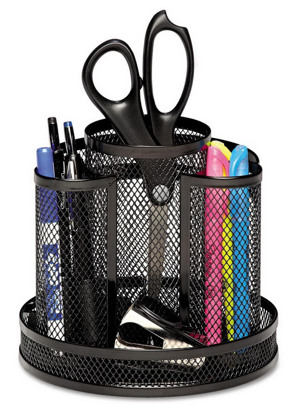 Rolodex Pencil Pen Marker Wire Mesh Spinning Holder Desk Top Office ...
