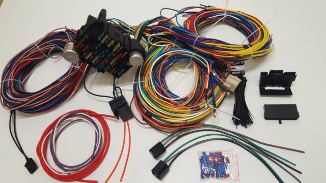 gearhead 1948 1952 ford truck pickup universal wiring kit wire rh ebay com Ford F-150 Wiring Harness Ford Truck Radio Wiring Diagram