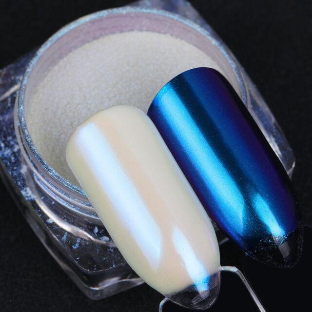 Born Pretty Shimmer Nail Art Chameleon Powder White Pearl Mirror