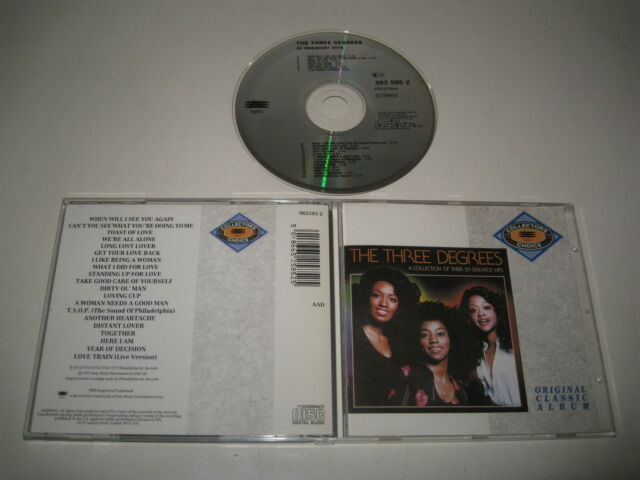 THE THREE DEGREES/20 GREATEST HITS(EPIC/982 585 2)CD ALBUM
