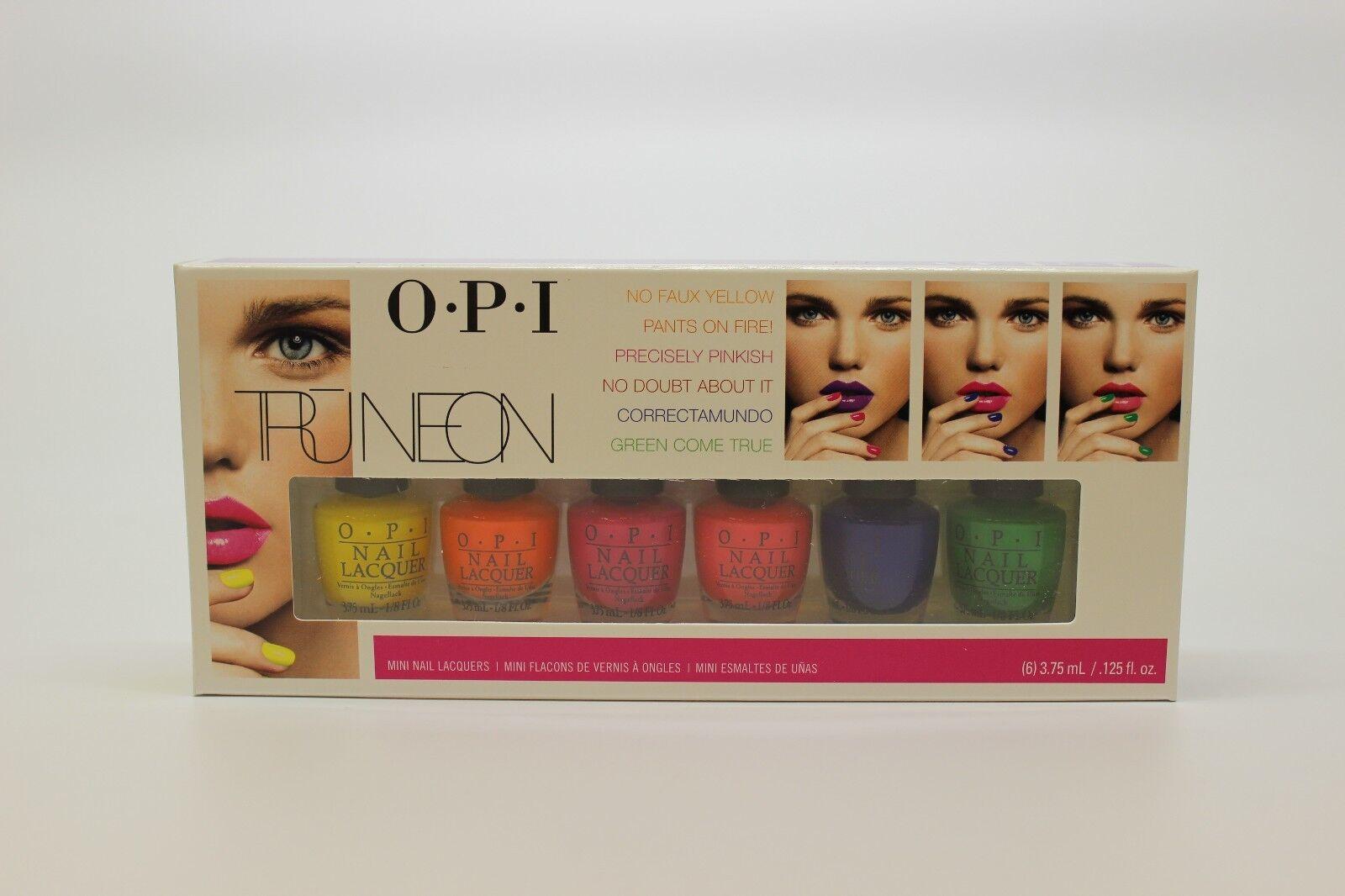 OPI Tru Neon Mini Lacquer Nail Polish Set of 6x .125oz Bottles | eBay