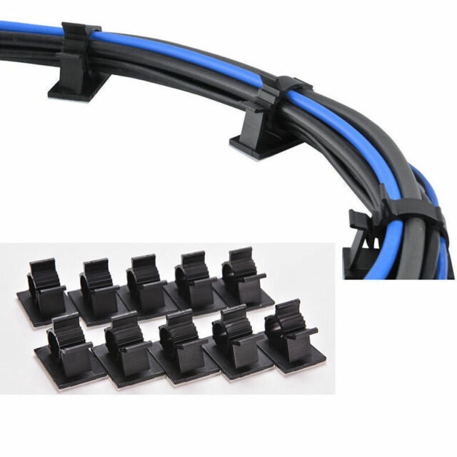 10x Cable Clips Adhesive Cord Management Organizer Wire Holders 0.5 ...
