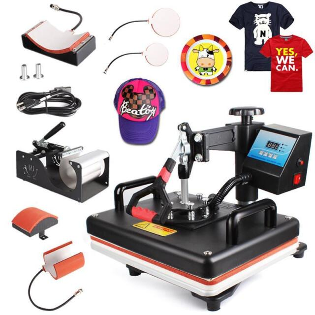 5 in 1 diy heat press machine digital transfer printer for for Heat pressing t shirts