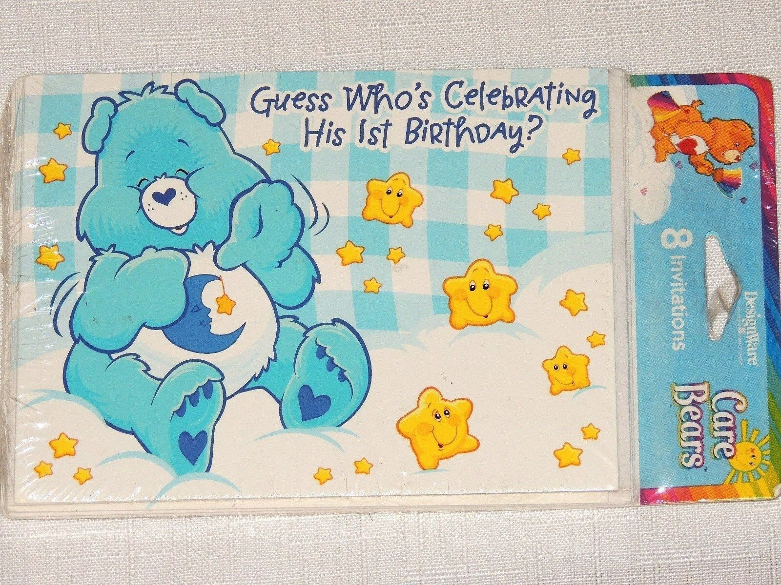 8 care bears boy 1st first birthday invitations party supplies picture 1 of 1 monicamarmolfo Choice Image
