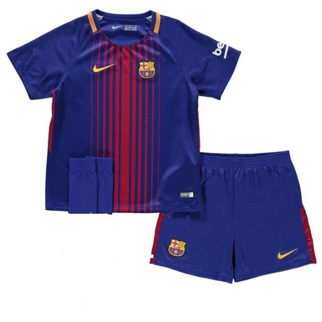 923cdde0c ... huge discount f8b1a e49c9 Nike Barcelona Home Mini Kit 2017 2018 SIZE  5-6 YEARS ...