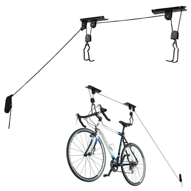 20KG Space Saving Bike Cycle Bicycle Pulley Lift Garage Basement Ceiling Storage