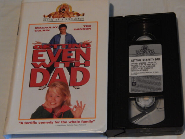 Getting Even With Dad + The Big Green (VHS x 2) Clamshells) Ted Danson) Macaulay