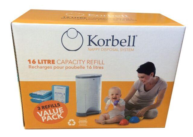 Korbell Bin Liner 3-Pack Refill - Standard
