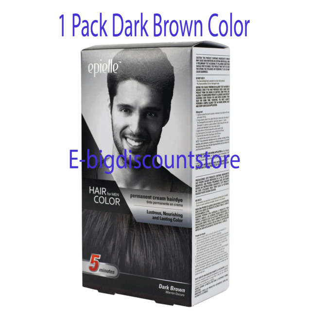 Dark Brown Color For Men Epielle Permanent Hair Dye In 5 Min Look Ebay