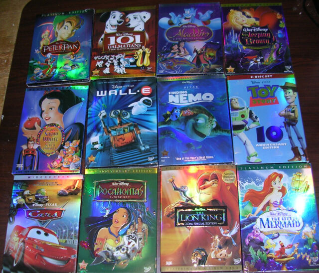 disney dvd lot 6 movies lion king beauty and the beast