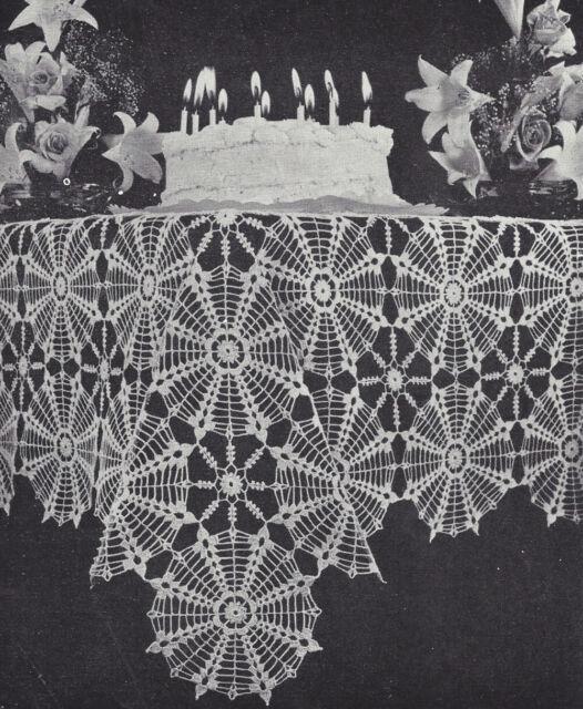 Vintage Crochet Pattern Spider Web Spiderweb Design Doily Motif