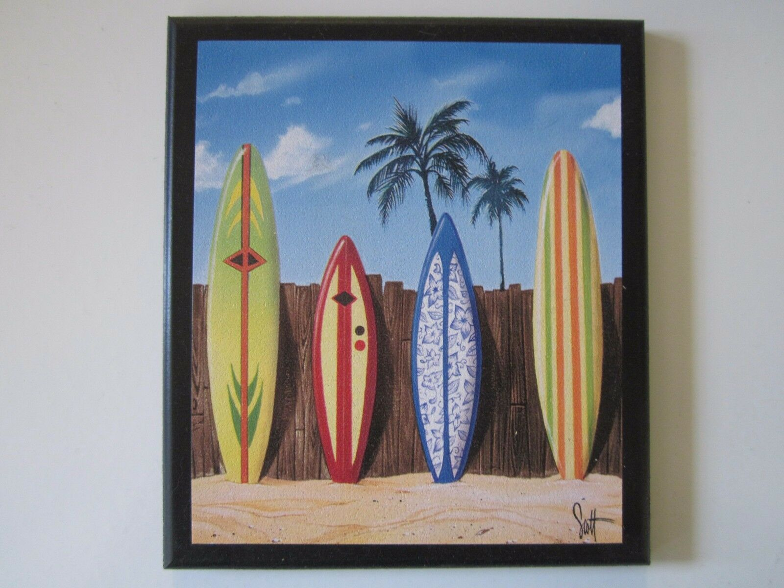Surfboards Beach Wall Decor Plaque Surfing Style Sign Surfboard