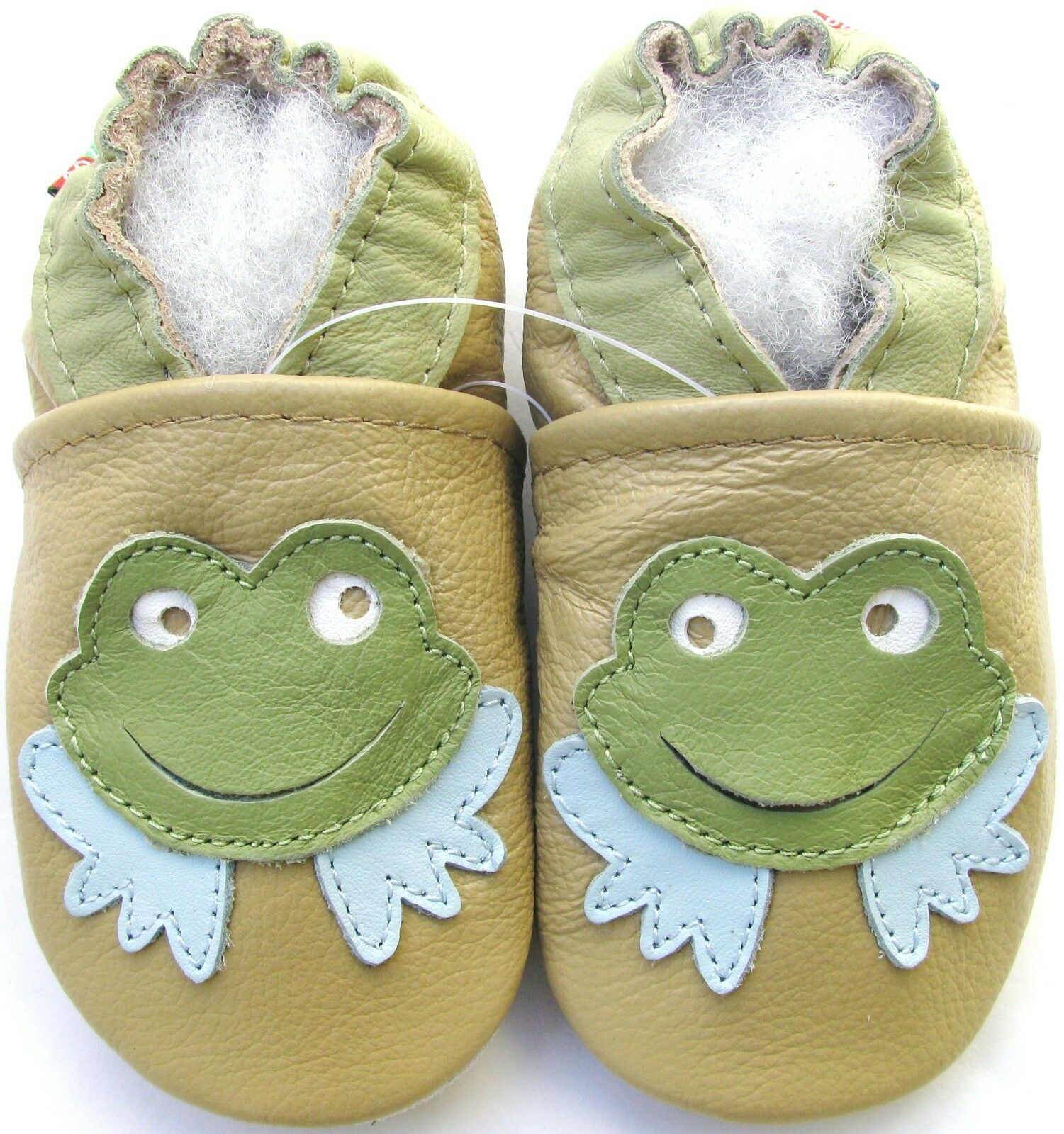 Carozoo Frog Tan 0 6m Soft Sole Leather Baby Shoes