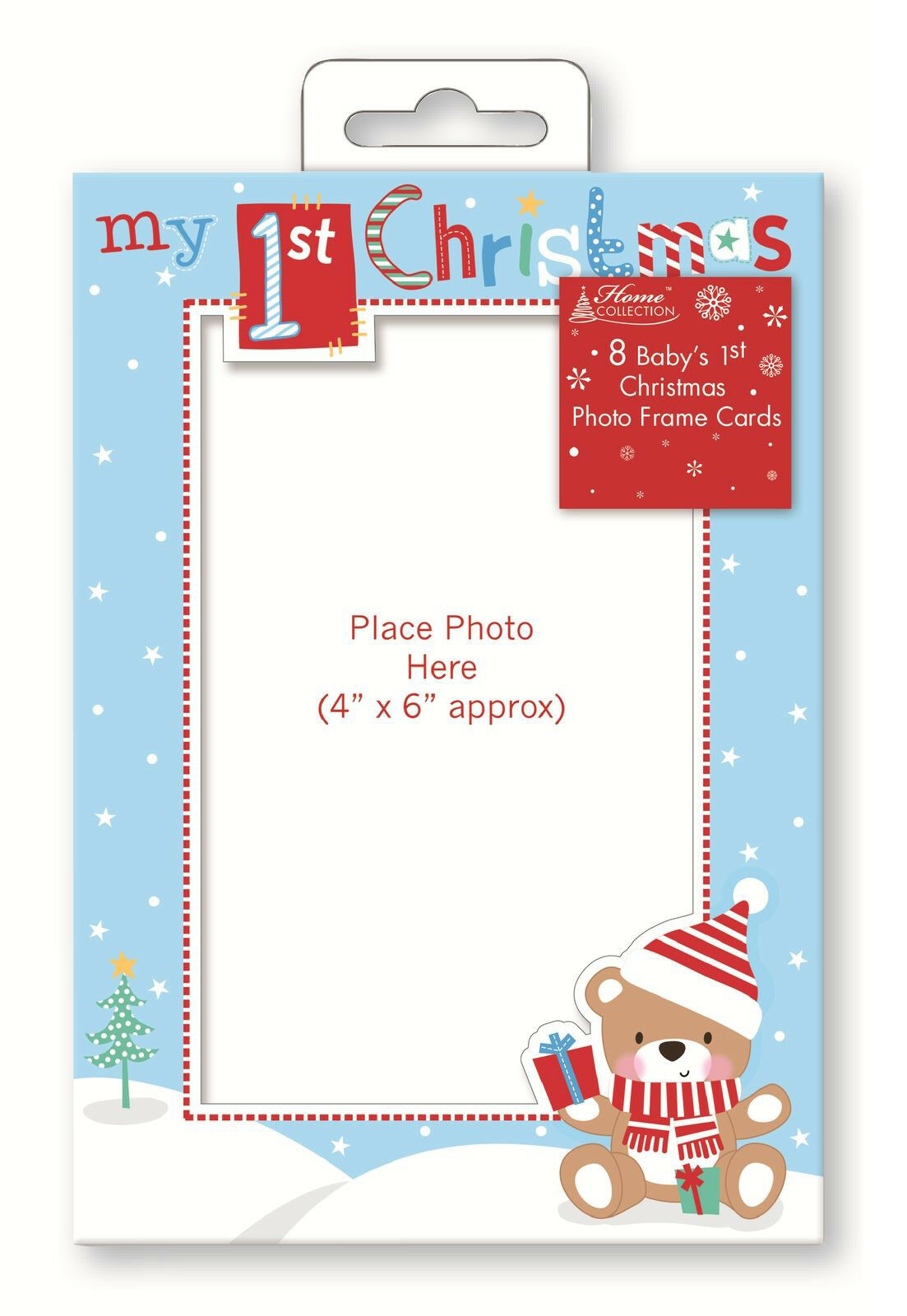 Pack of 8 Babys First 1st Christmas Cards Personalised Add Photo ...